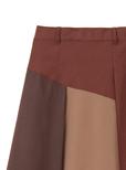 3配色スエードスカート